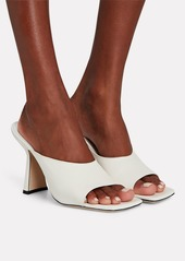 BY FAR Zaya Leather Slide Sandals