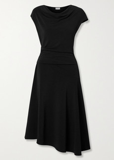By Malene Birger Aida Draped Stretch-crepe Midi Dress