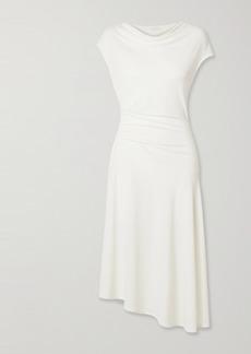 By Malene Birger Aidia Draped Stretch-crepe Midi Dress