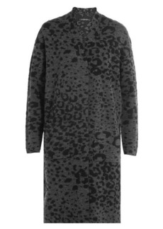By Malene Birger Animal Print Knit Cardigan