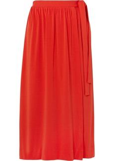 By Malene Birger Baccia Crepe Wrap Midi Skirt