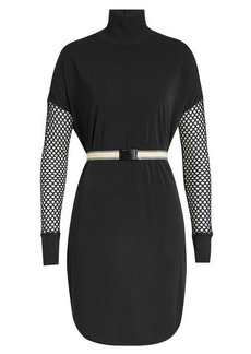 By Malene Birger Belted Fishnet Dress