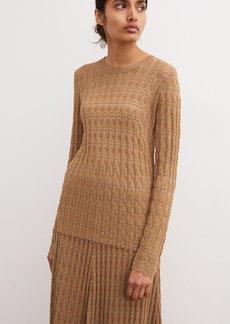 By Malene Birger - Women's Dregea Pointelle-Knit Top - Neutral/black - Moda Operandi