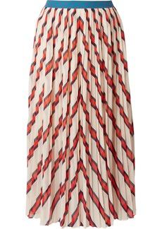 By Malene Birger Alvilamma Pleated Striped Chiffon Midi Skirt