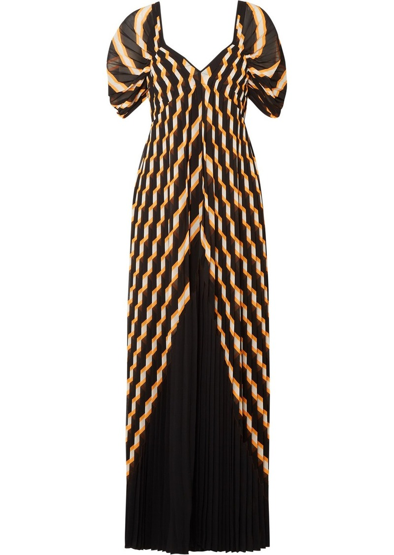 By Malene Birger Alvima pleated striped chiffon maxi dress