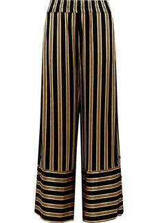 By Malene Birger Brinni Striped Satin Wide-leg Pants