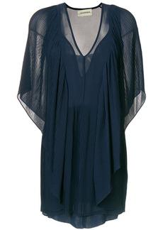 By Malene Birger draped v-neck dress - Blue