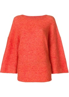 By Malene Birger flared sleeve knit jumper - Yellow & Orange