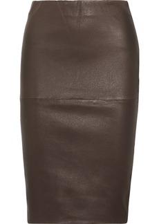 By Malene Birger Floridia stretch-leather midi skirt