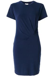 By Malene Birger gathered detail T-shirt dress - Blue
