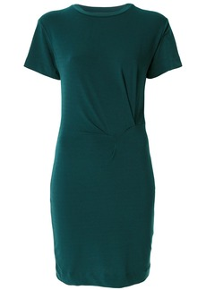 By Malene Birger gathered detail T-shirt dress - Green