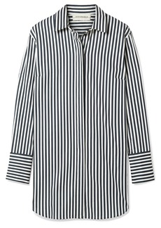 By Malene Birger Isadora oversized striped cotton-blend shirt