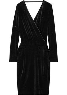 By Malene Birger Jannina wrap-effect metallic stretch-velvet dress