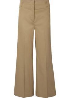 By Malene Birger Kalanna Cotton-blend Canvas Wide-leg Pants