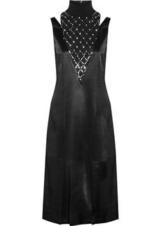 By Malene Birger Leosa Embellished Chiffon-paneled Satin Midi Dress