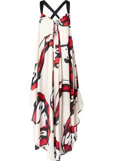 By Malene Birger Manoelah asymmetric printed crepe de chine maxi dress