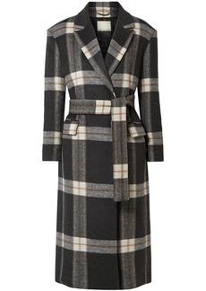 By Malene Birger Mariana Checked Brushed-felt Coat