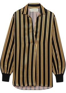 By Malene Birger Mourci striped satin shirt