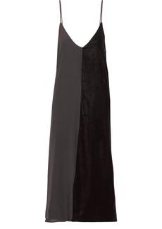 By Malene Birger Nabras silk crepe de chine and velvet dress