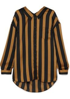 By Malene Birger Nipella striped satin blouse