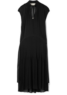 By Malene Birger Olindah Plissé-chiffon Midi Dress