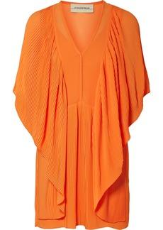 By Malene Birger Philanfi draped plissé-chiffon mini dress
