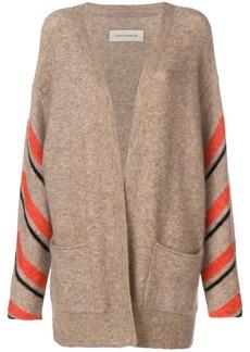 By Malene Birger striped sleeve cardigan - Nude & Neutrals