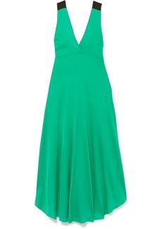 By Malene Birger Taalia embellished stretch-silk satin maxi dress