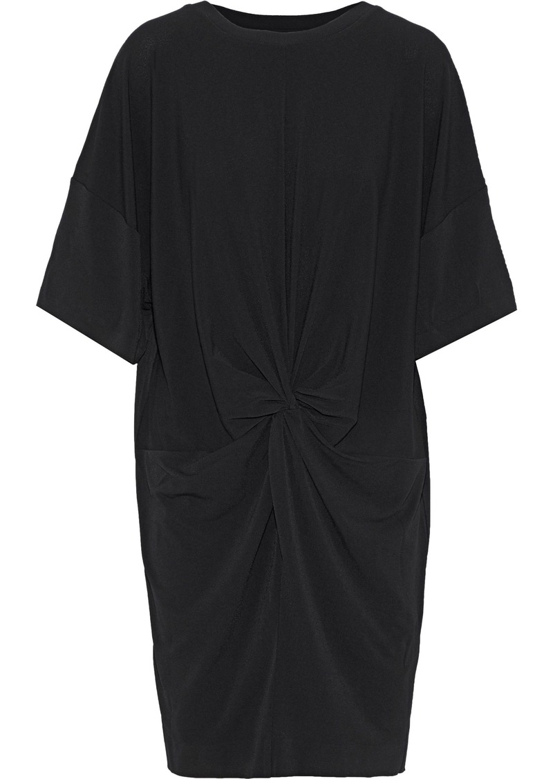 By Malene Birger Woman Aliya Knotted Stretch-crepe Mini Dress Black