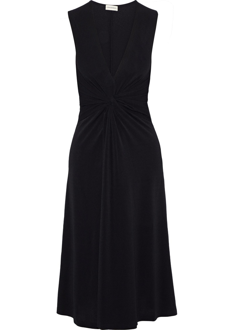 By Malene Birger Woman Damilla Twist-front Stretch-crepe Dress Black