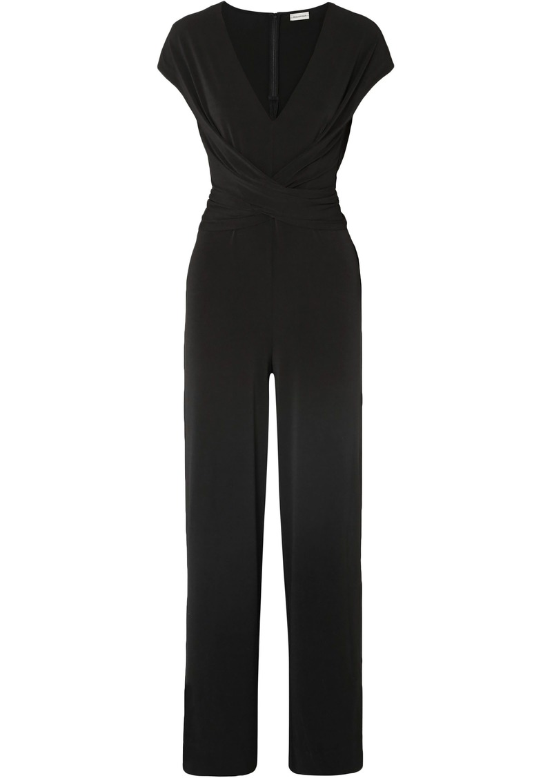 By Malene Birger Woman Jaxia Stretch-jersey Jumpsuit Black