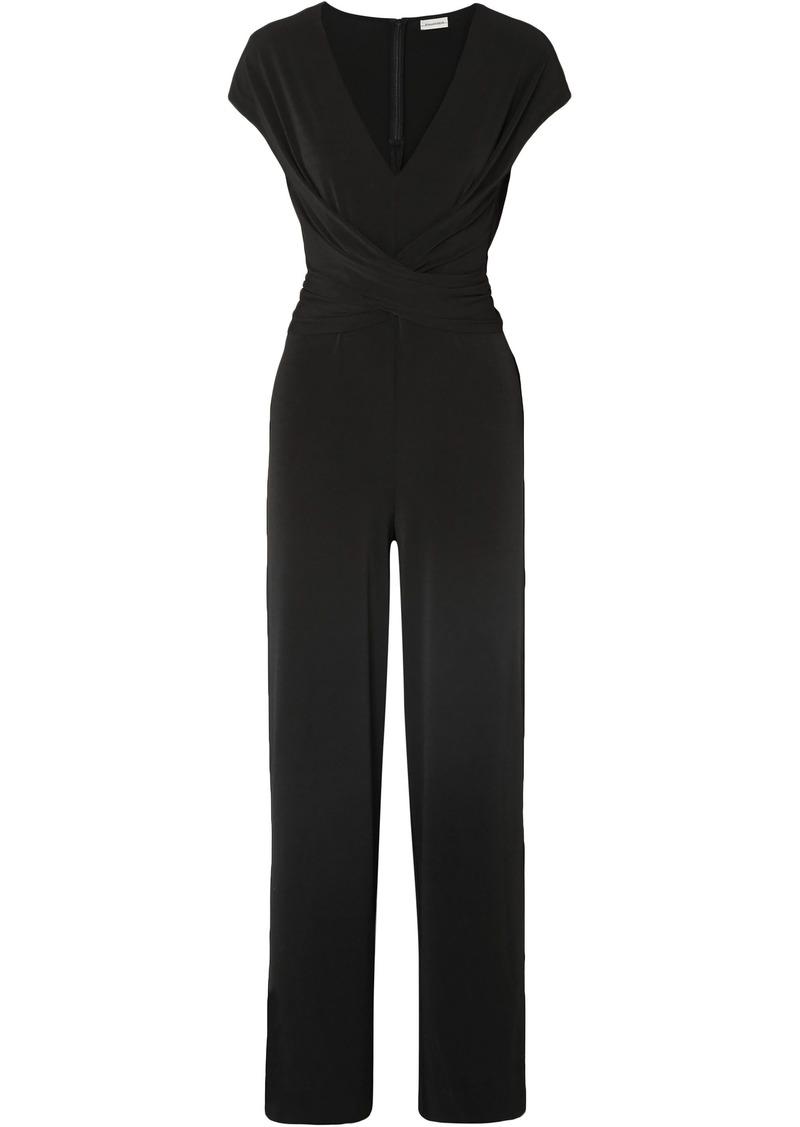 By Malene Birger Woman Jaxia Stretch-jersey Jumpsuit Black