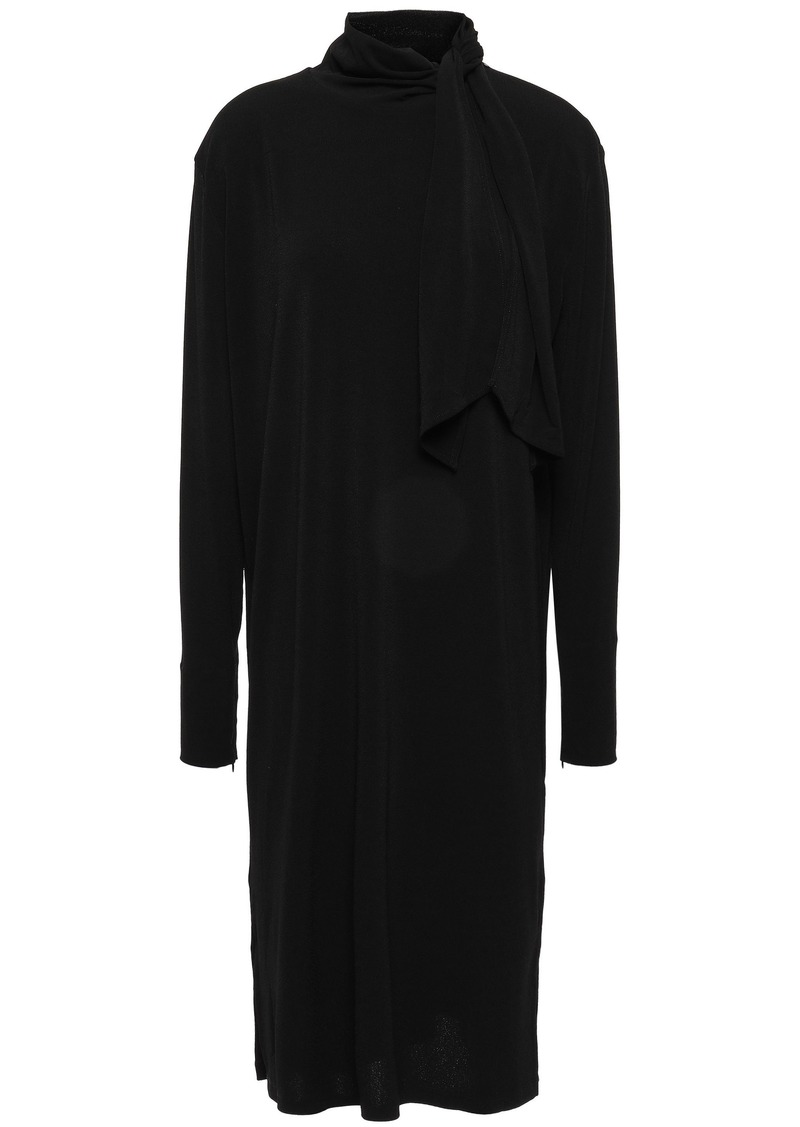 By Malene Birger Woman Knotted Stretch-crepe Dress Black