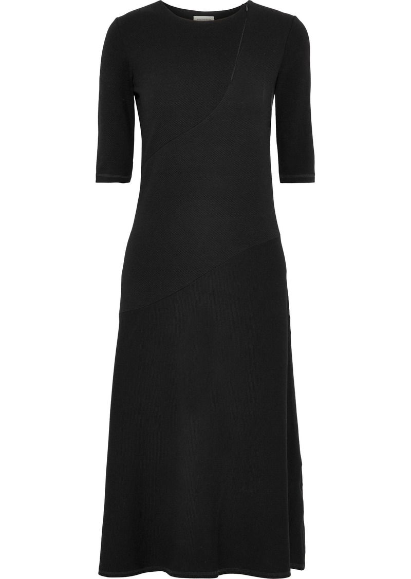 By Malene Birger Woman Nillio Ribbed-knit Midi Dress Black