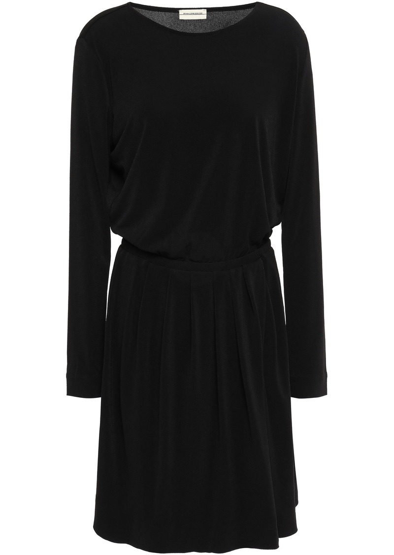 By Malene Birger Woman Pleated Stretch-crepe Mini Dress Black