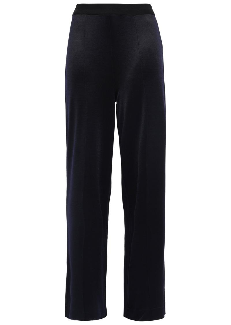 By Malene Birger Woman Ponte Wide-leg Pants Midnight Blue