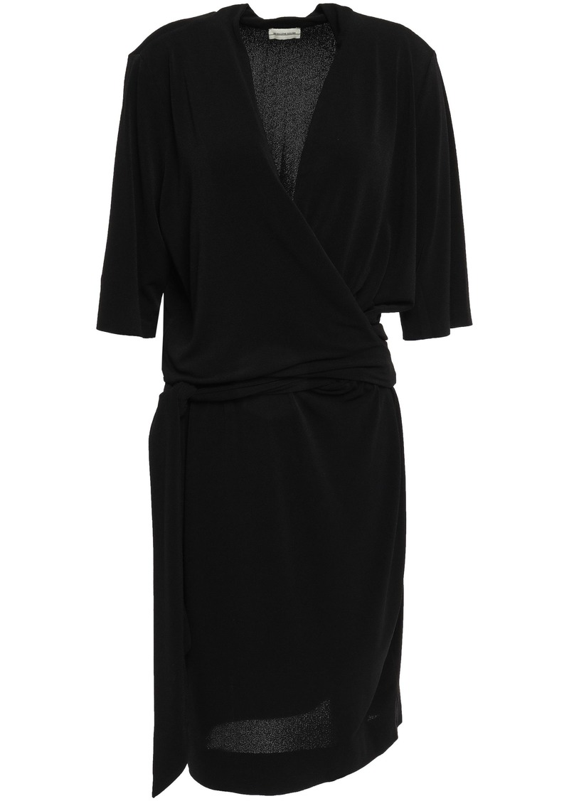 By Malene Birger Woman Qizi Wrap-effect Stretch-crepe Dress Black