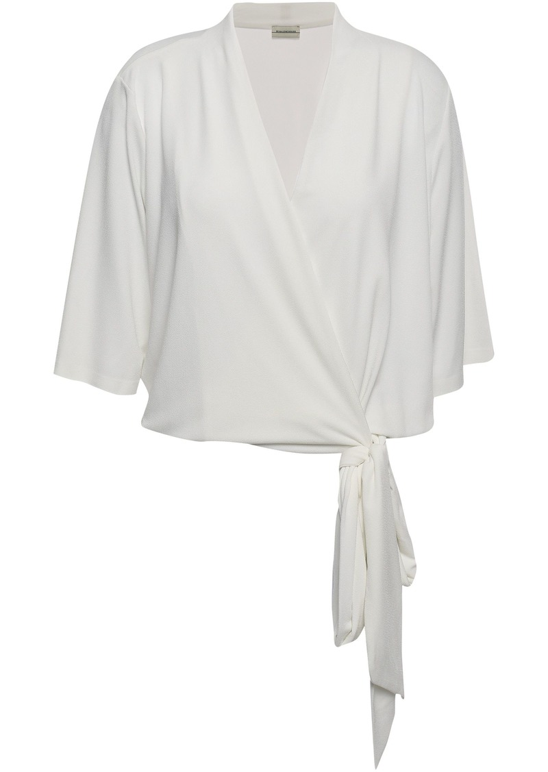 By Malene Birger Woman Wrap-effect Stretch-crepe Top White