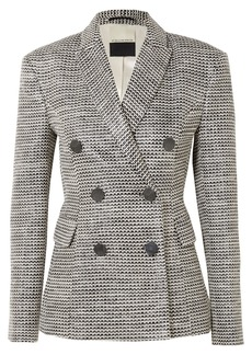 By Malene Birger Zozima Double-breasted Cotton-blend Tweed Blazer