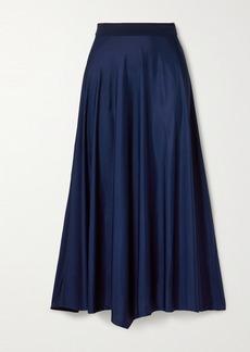 By Malene Birger Cayenne Asymmetric Satin Midi Skirt