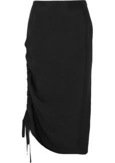 By Malene Birger Cisco Ruched Satin Midi Skirt