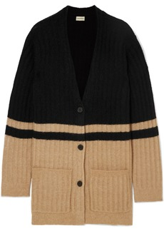 By Malene Birger Congoe Striped Knitted Cardigan