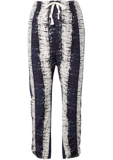By Malene Birger Delma Printed Cotton And Silk-blend Pants