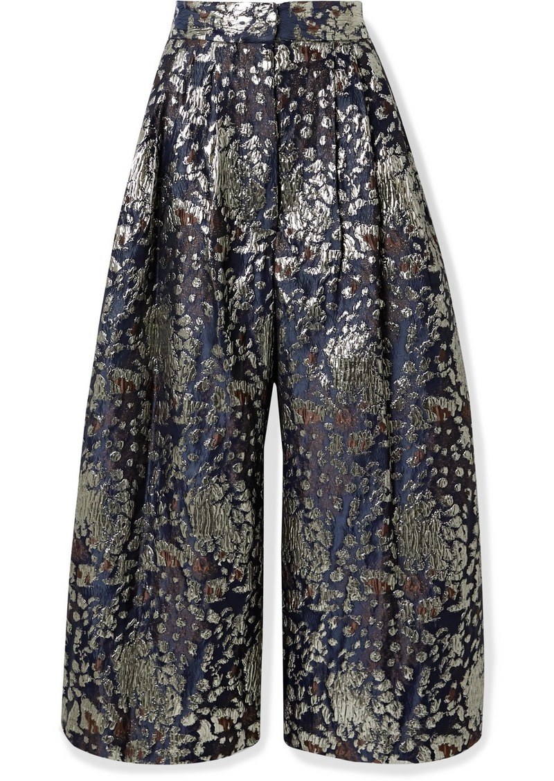 By Malene Birger Dinard Metallic Brocade Wide-leg Pants