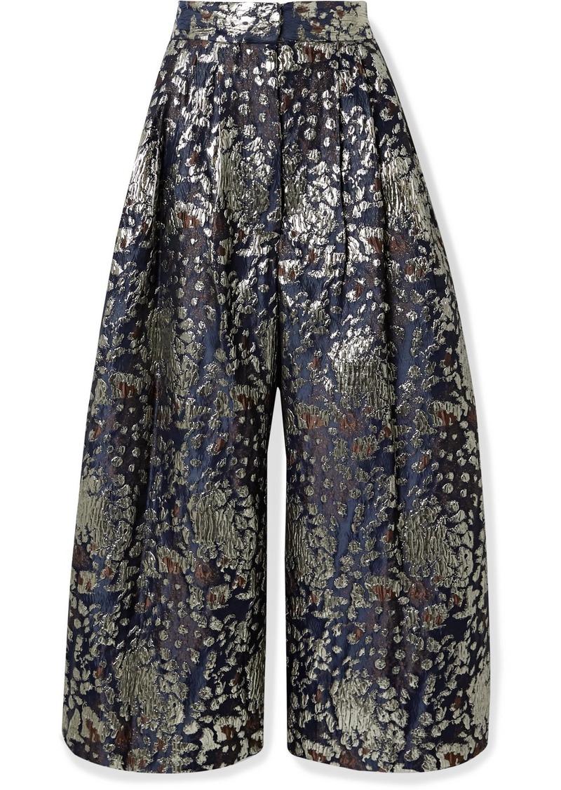 By Malene Birger Dinard Metallic Brocade Wide-leg Pants