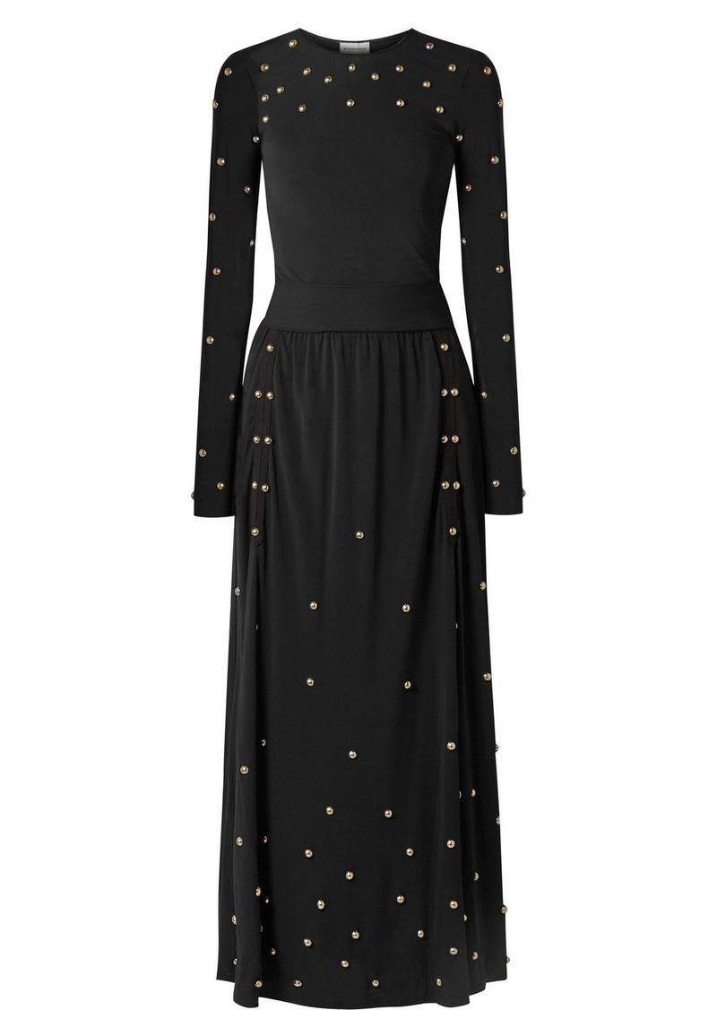 By Malene Birger Embellished Jersey Maxi Dress
