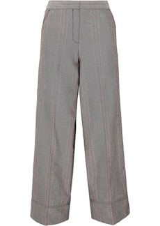 By Malene Birger Enilas Checked Cotton-blend Twill Wide-leg Pants