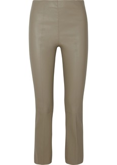 By Malene Birger Florentina Cropped Leather Bootcut Pants