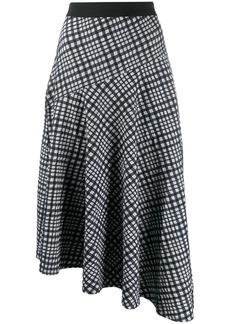 By Malene Birger grid asymmetric skirt