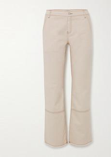 By Malene Birger Helia Frayed High-rise Straight-leg Jeans